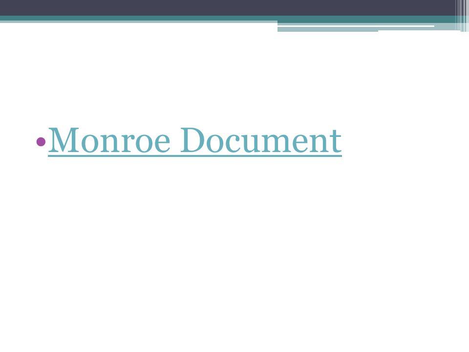 Monroe Document