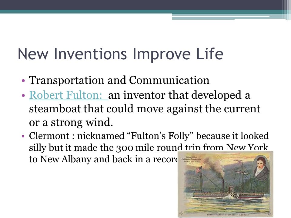 New Inventions Improve Life