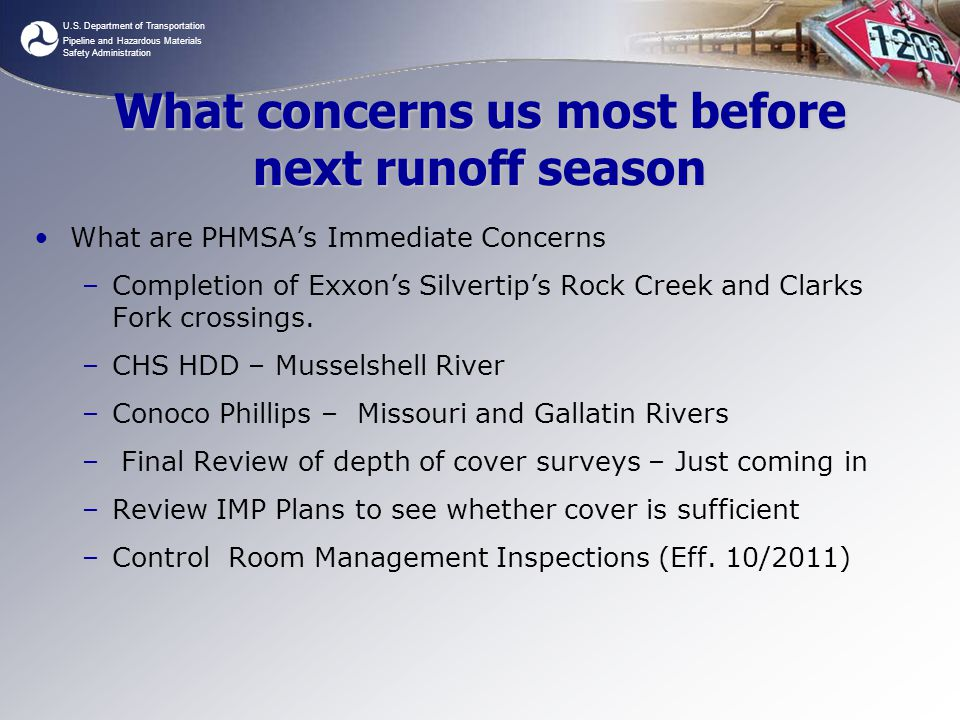 What concerns us most before next runoff season