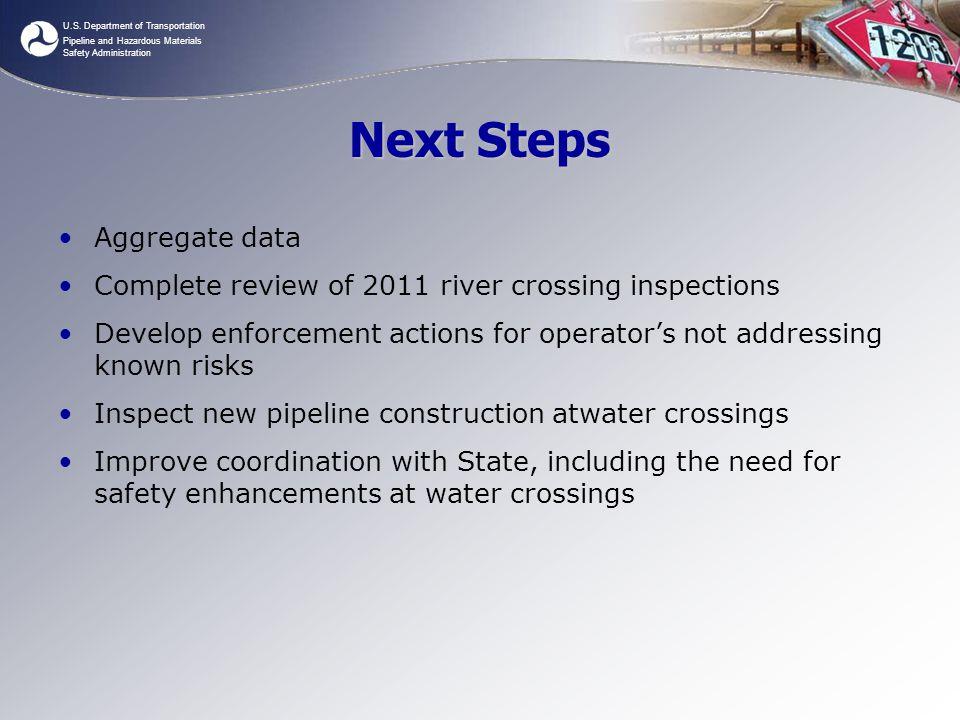 Next Steps Aggregate data