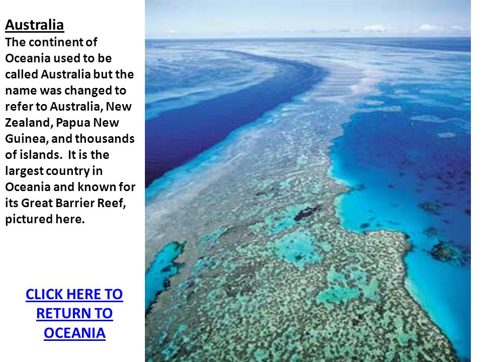 CLICK HERE TO RETURN TO OCEANIA