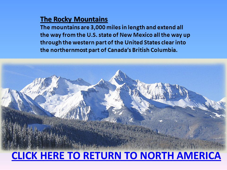 CLICK HERE TO RETURN TO NORTH AMERICA