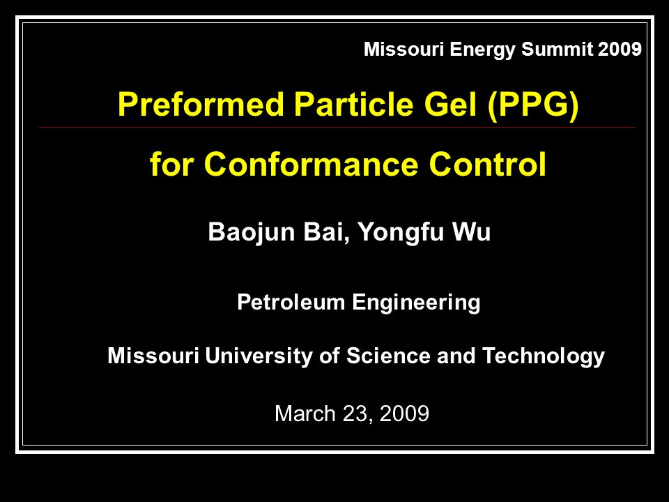 Preformed Particle Gel (PPG) for Conformance Control