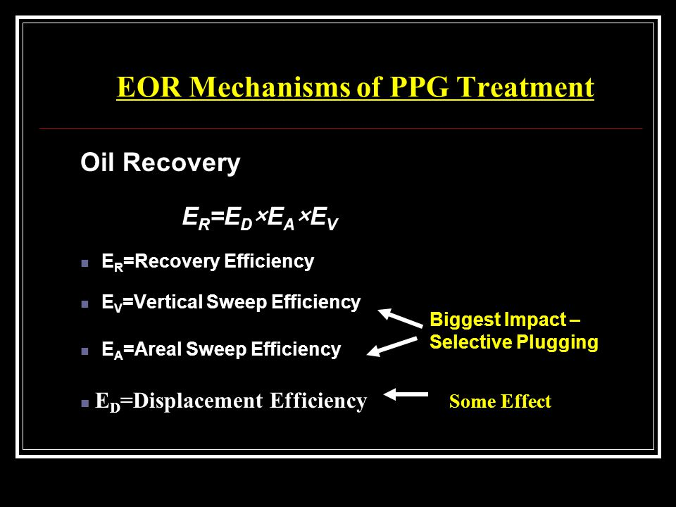 EOR Mechanisms of PPG Treatment
