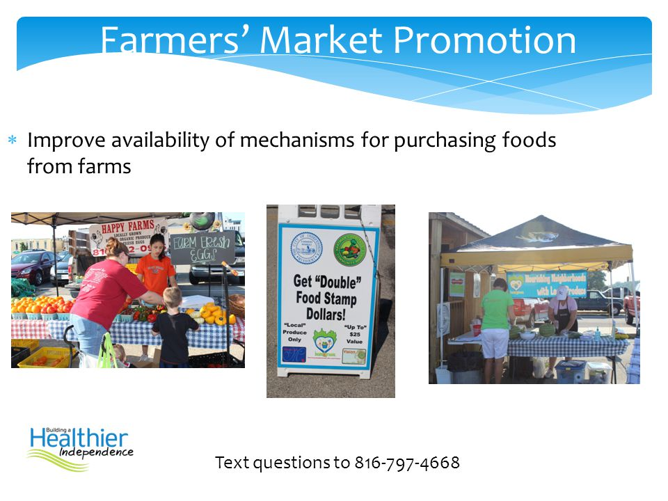 Farmers' Market Promotion