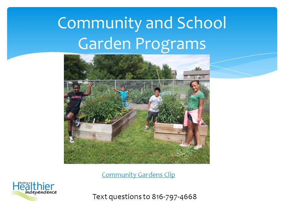 Community and School Garden Programs