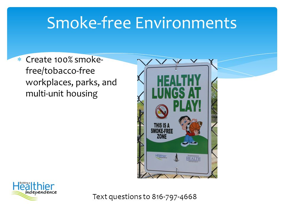 Smoke-free Environments