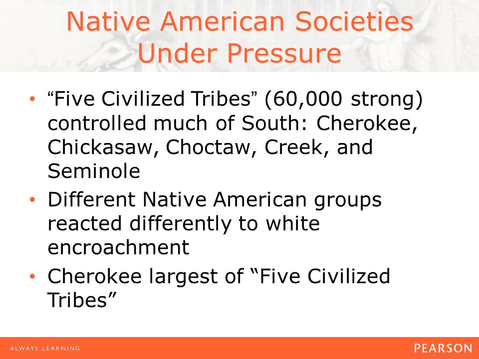Native American Societies Under Pressure