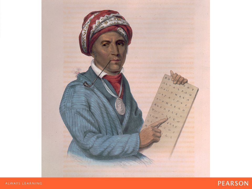 Cherokee Literacy Sequoyah's invention of the Cherokee alphabet enabled thousands of Cherokees to read and write primers and newspapers in their own language.