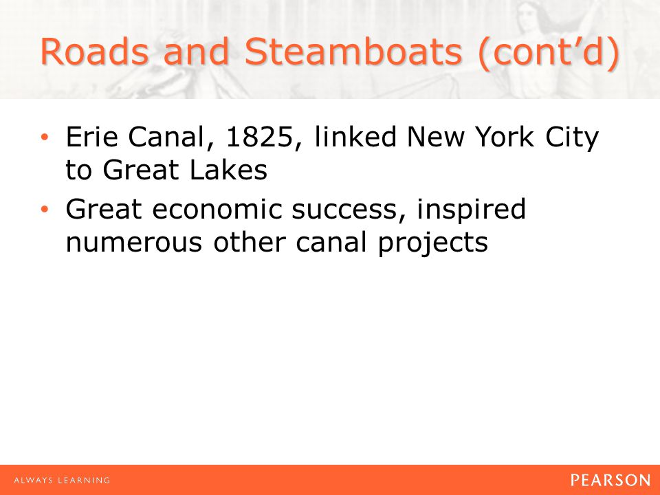 Roads and Steamboats (cont'd)