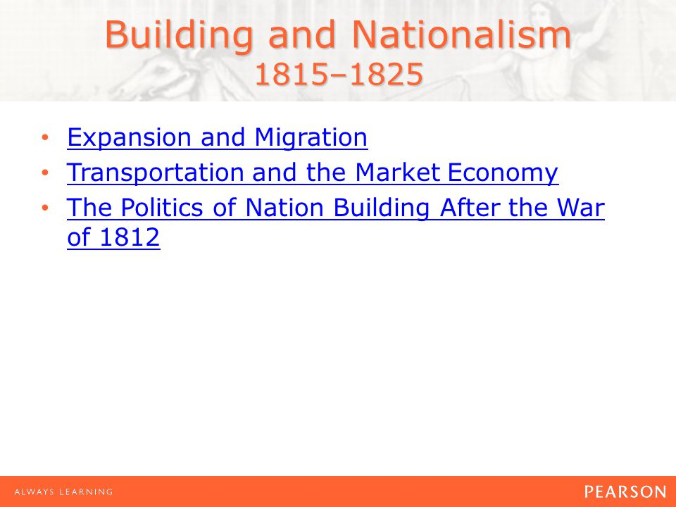 Building and Nationalism 1815–1825