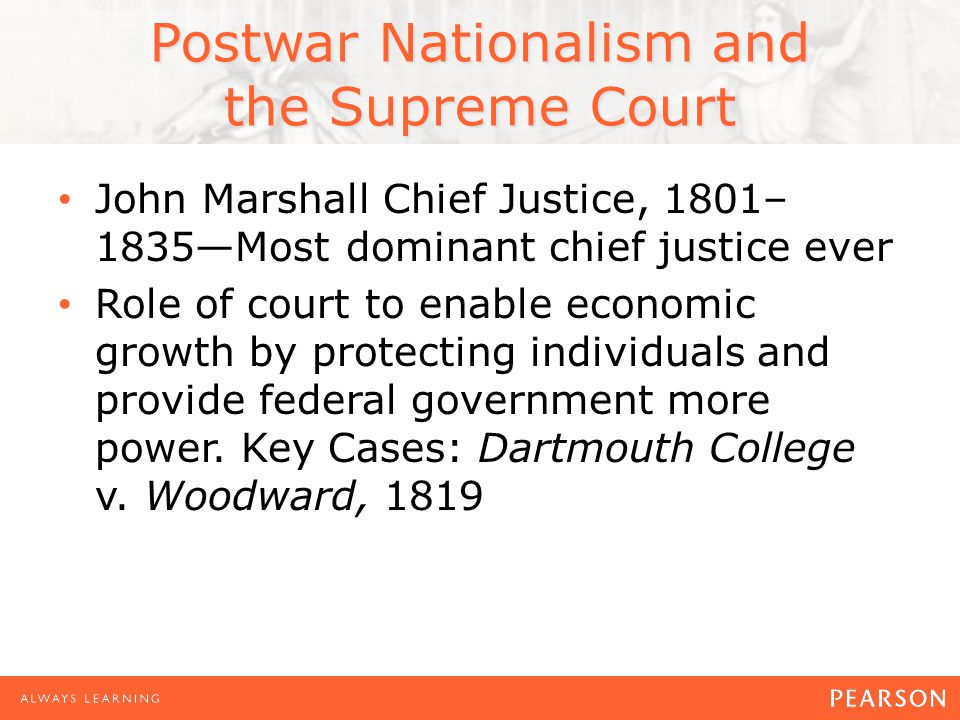 Postwar Nationalism and the Supreme Court