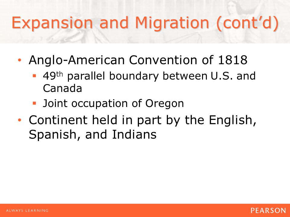 Expansion and Migration (cont'd)