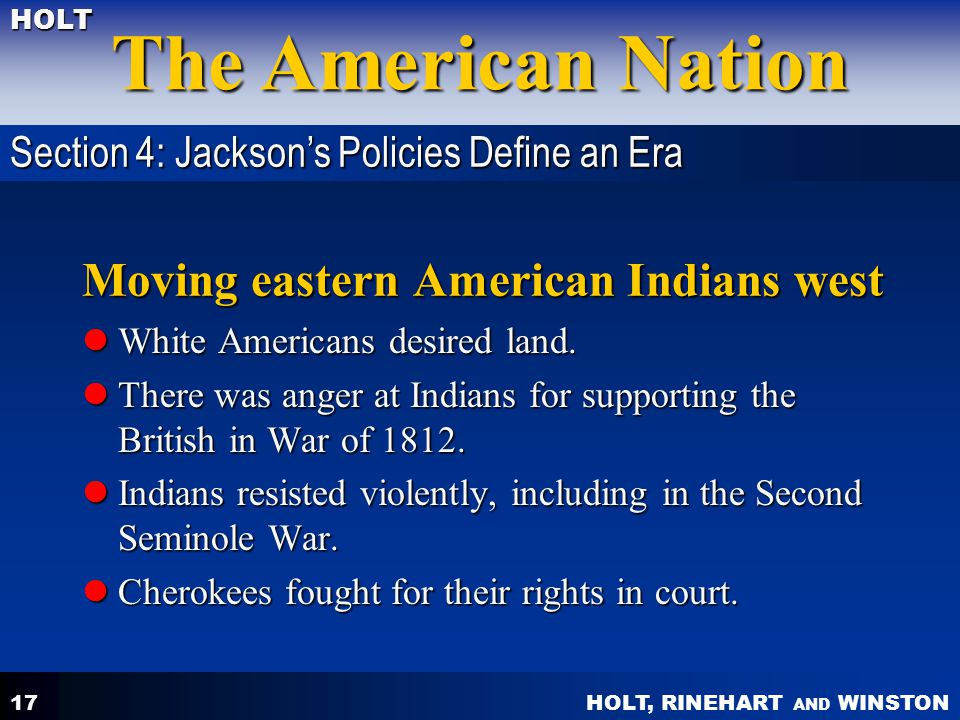 Moving eastern American Indians west