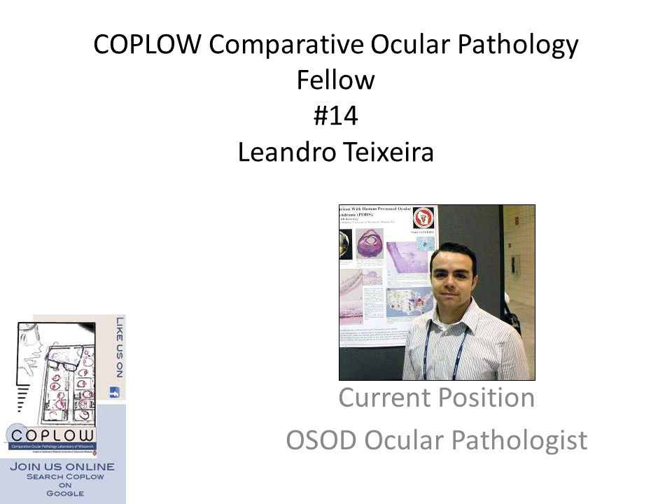 COPLOW Comparative Ocular Pathology Fellow #14 Leandro Teixeira
