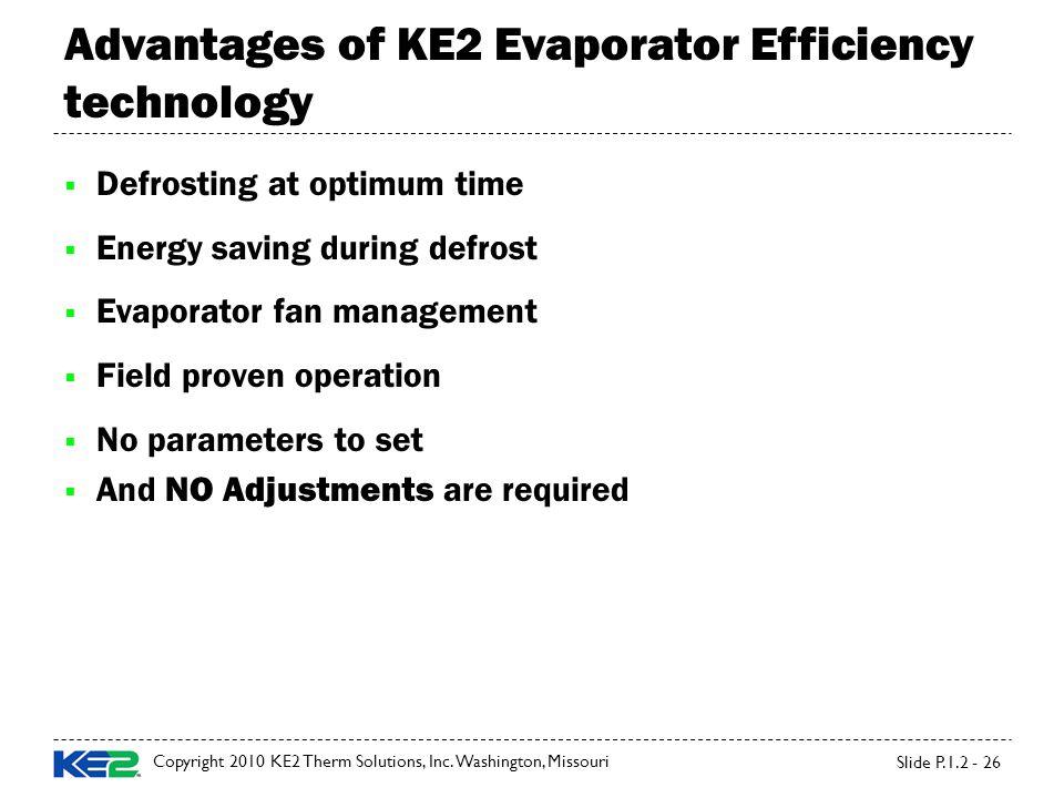 Advantages of KE2 Evaporator Efficiency technology