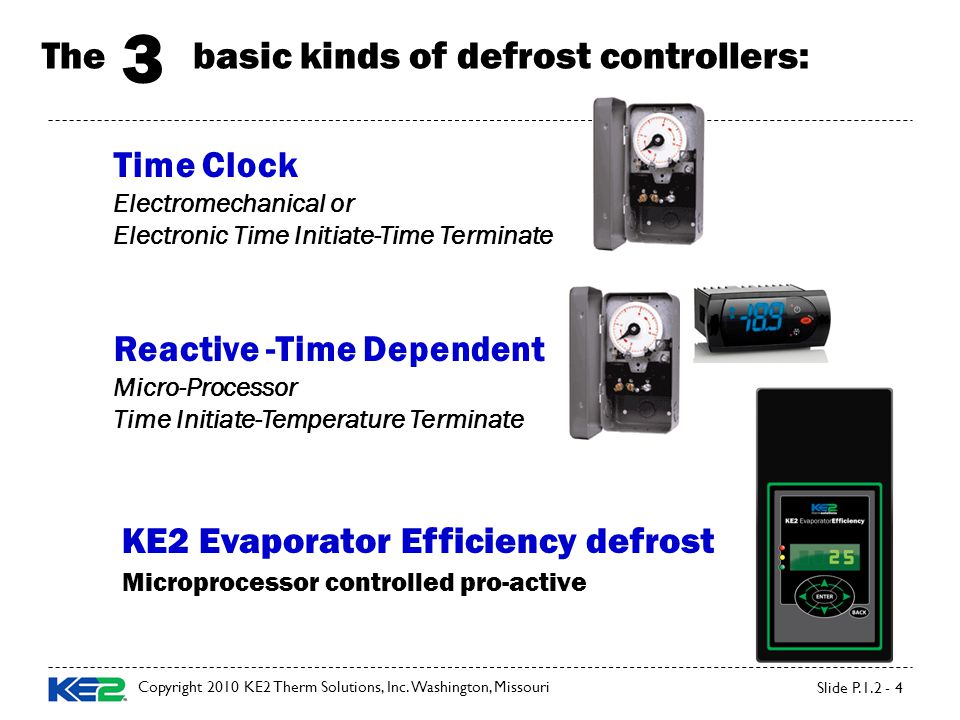 The basic kinds of defrost controllers: