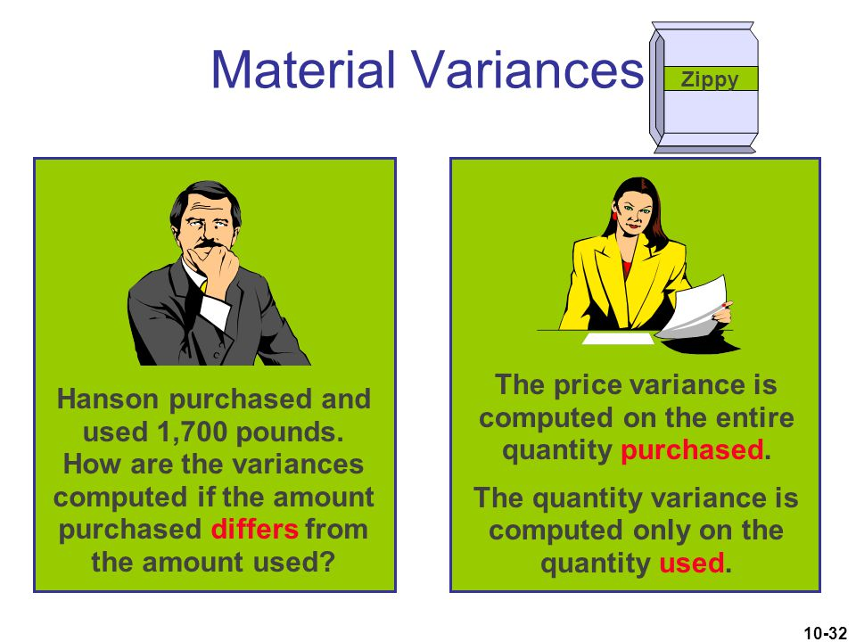 Material Variances Zippy.