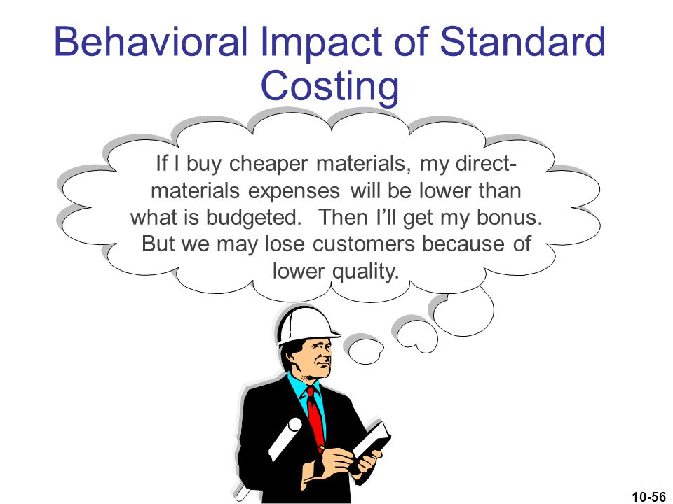 Behavioral Impact of Standard Costing
