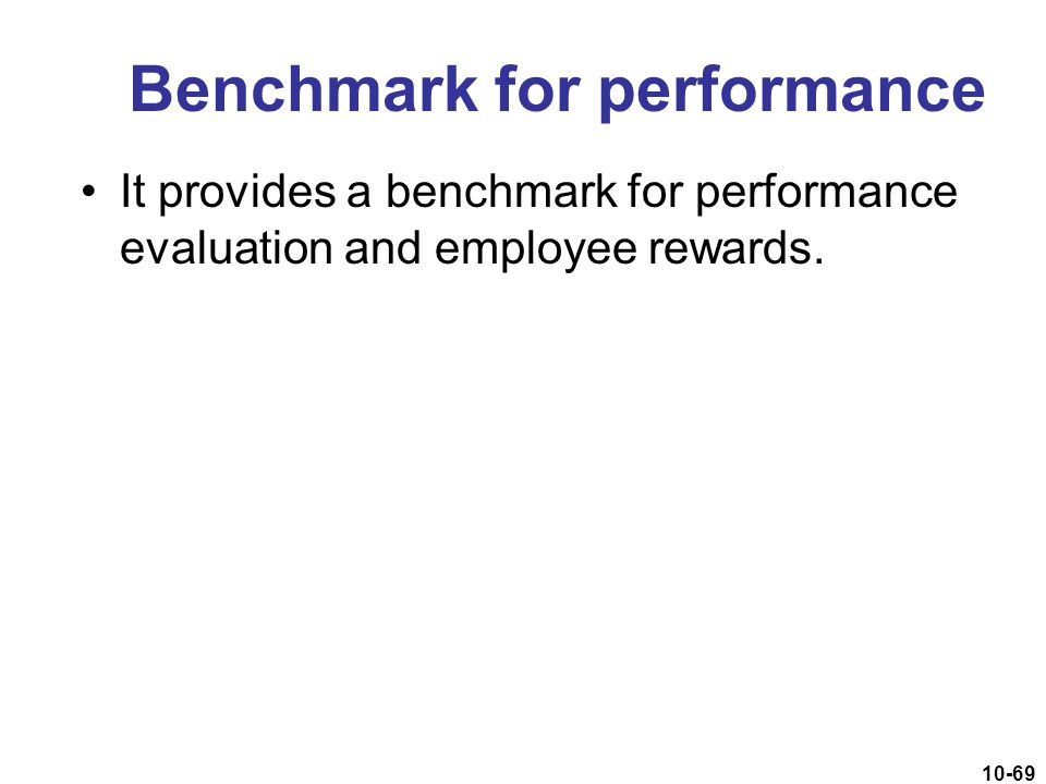 Benchmark for performance