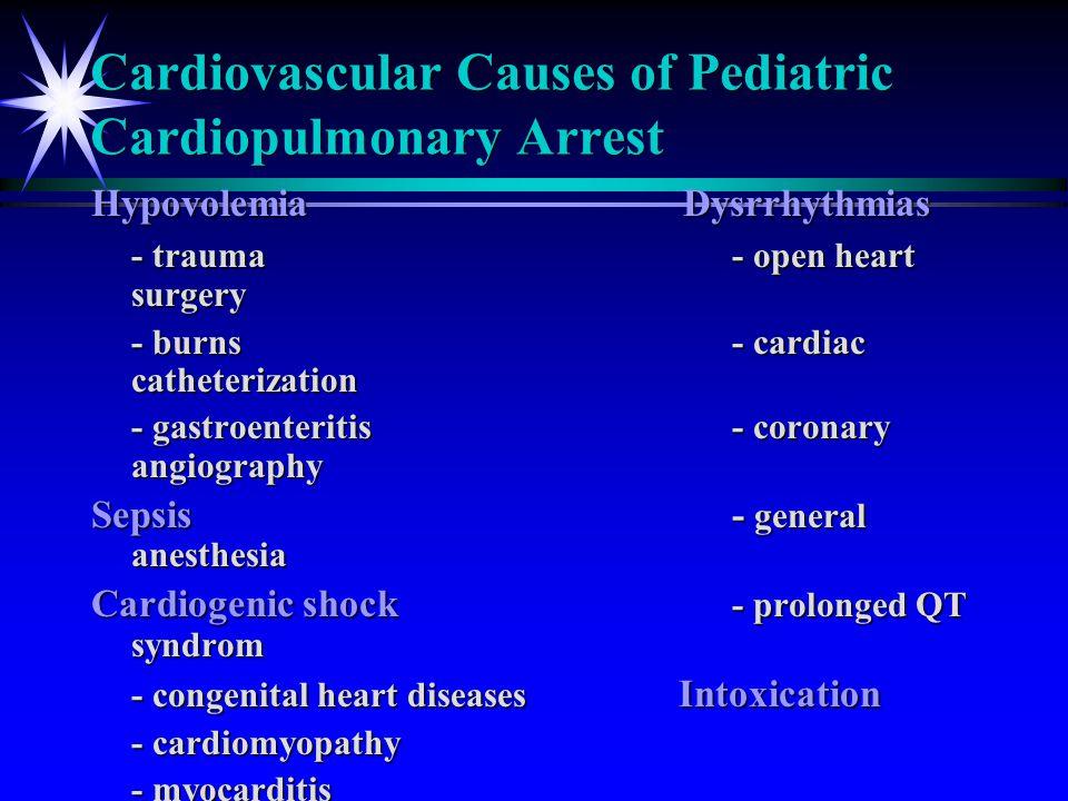 Cardiovascular Causes of Pediatric Cardiopulmonary Arrest