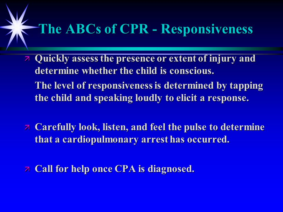 The ABCs of CPR - Responsiveness