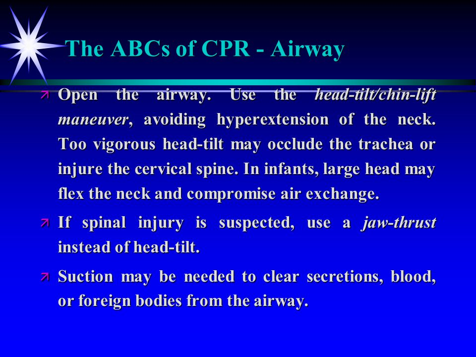 The ABCs of CPR - Airway