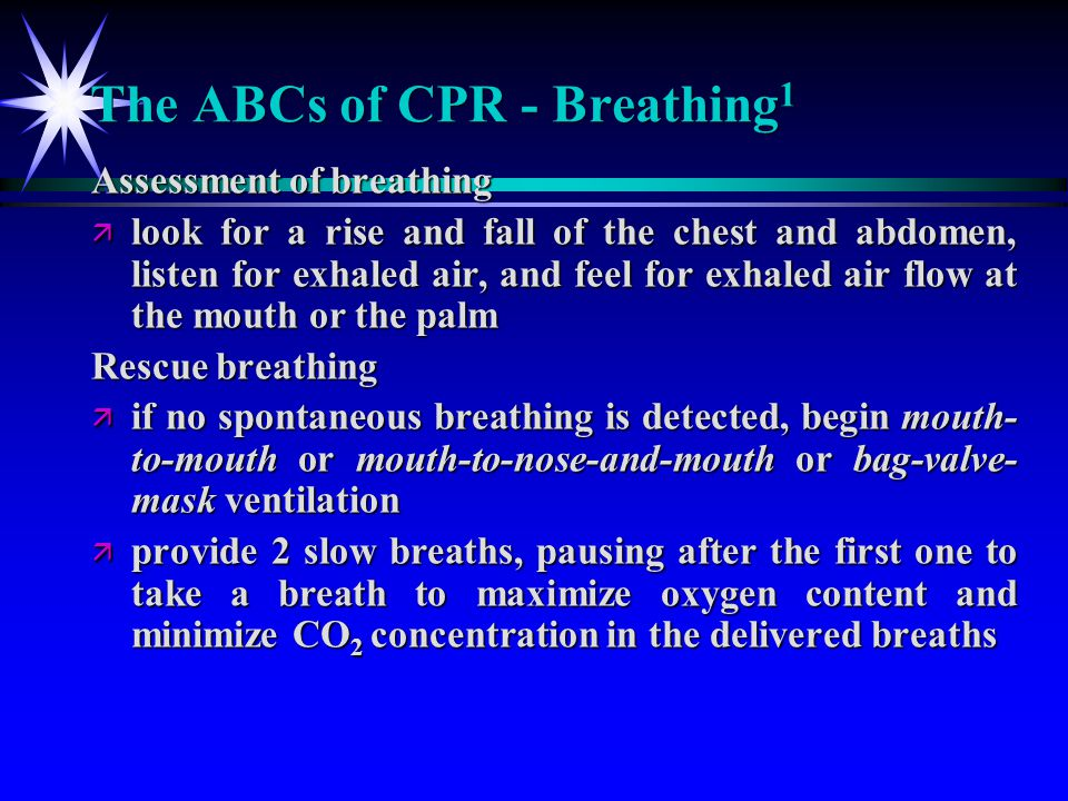 The ABCs of CPR - Breathing1