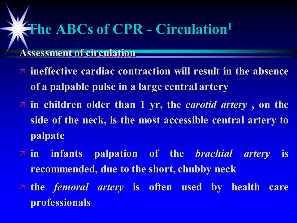 The ABCs of CPR - Circulation1