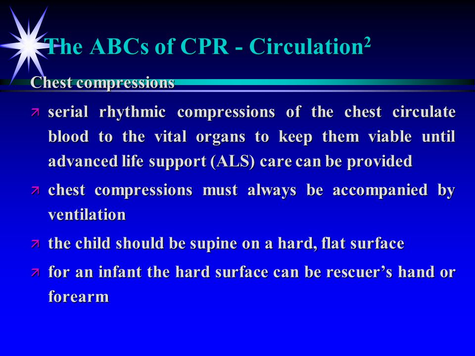 The ABCs of CPR - Circulation2