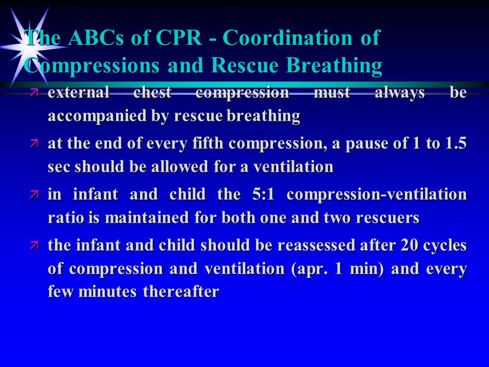 The ABCs of CPR - Coordination of Compressions and Rescue Breathing