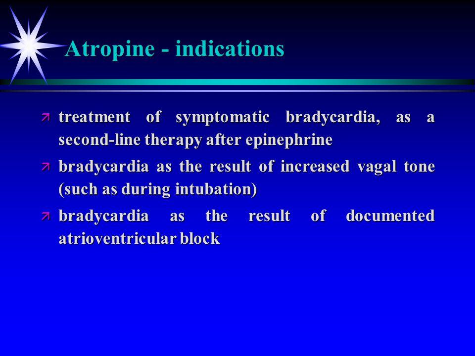 Atropine - indications