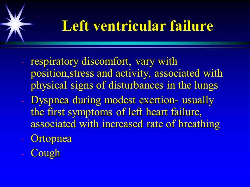 Left ventricular failure