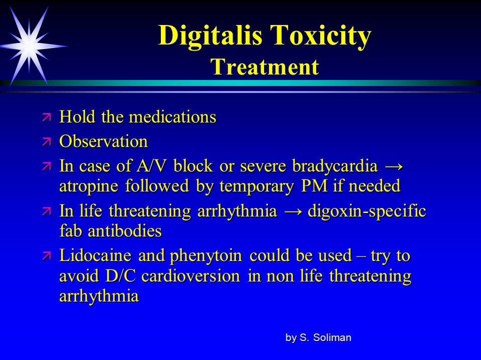 Digitalis Toxicity Treatment