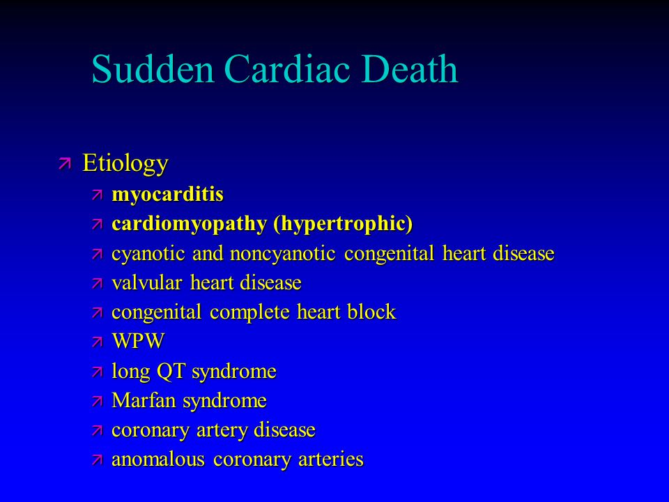 Sudden Cardiac Death Etiology myocarditis