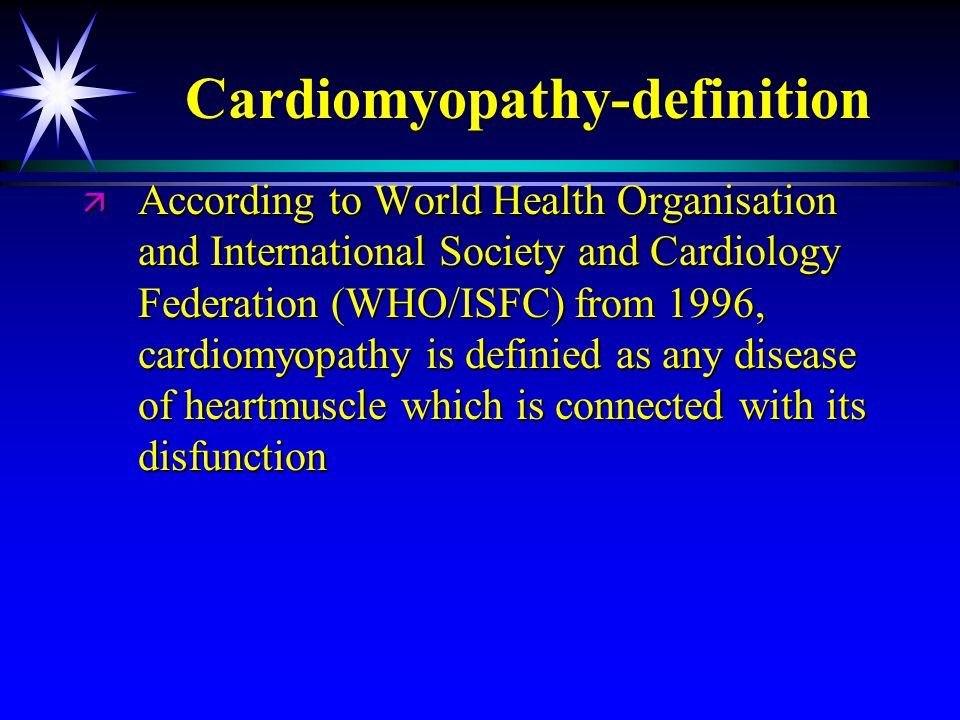 Cardiomyopathy-definition
