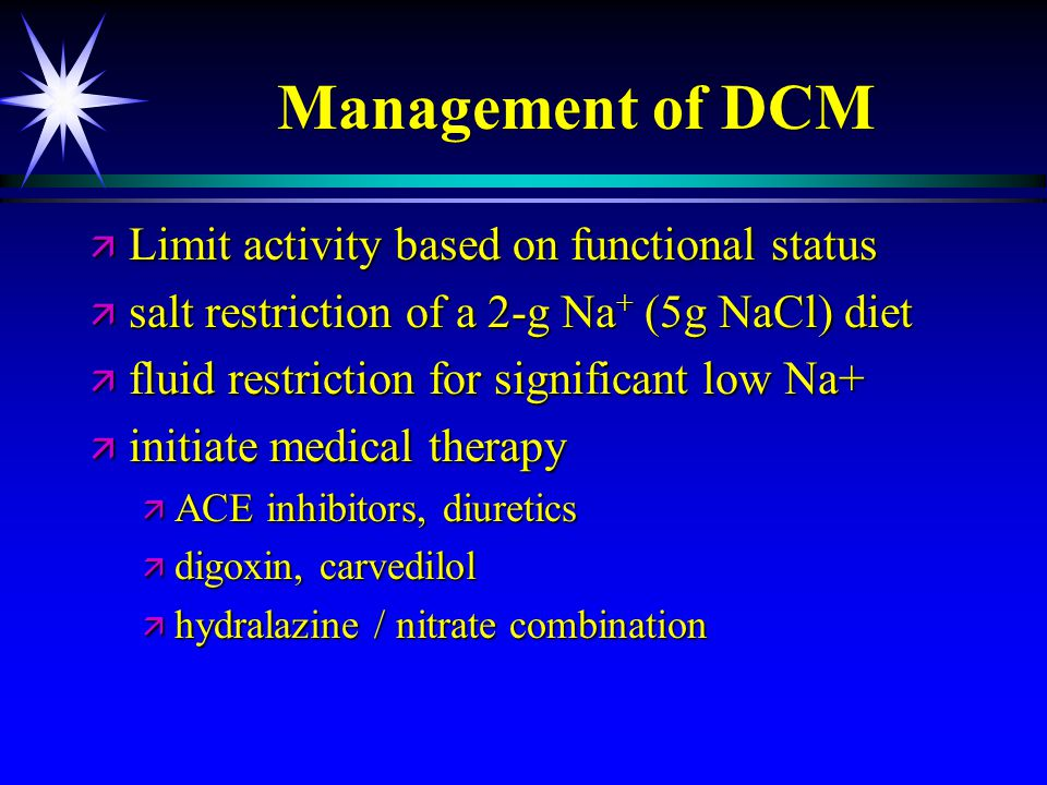 Management of DCM Limit activity based on functional status