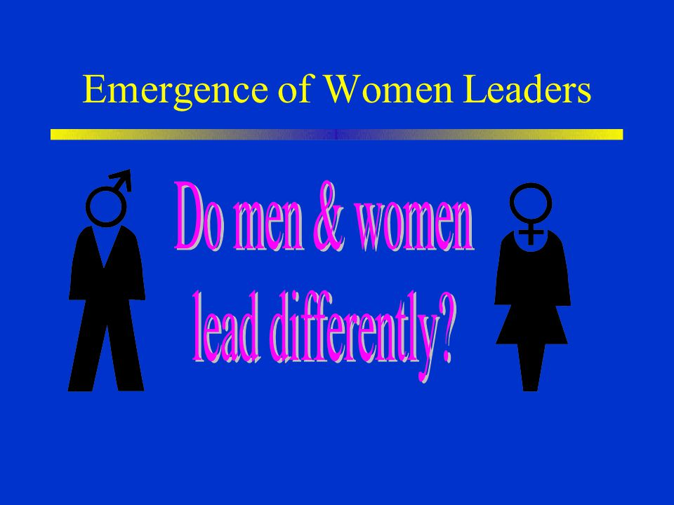 Emergence of Women Leaders