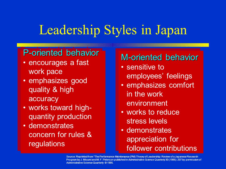 Leadership Styles in Japan