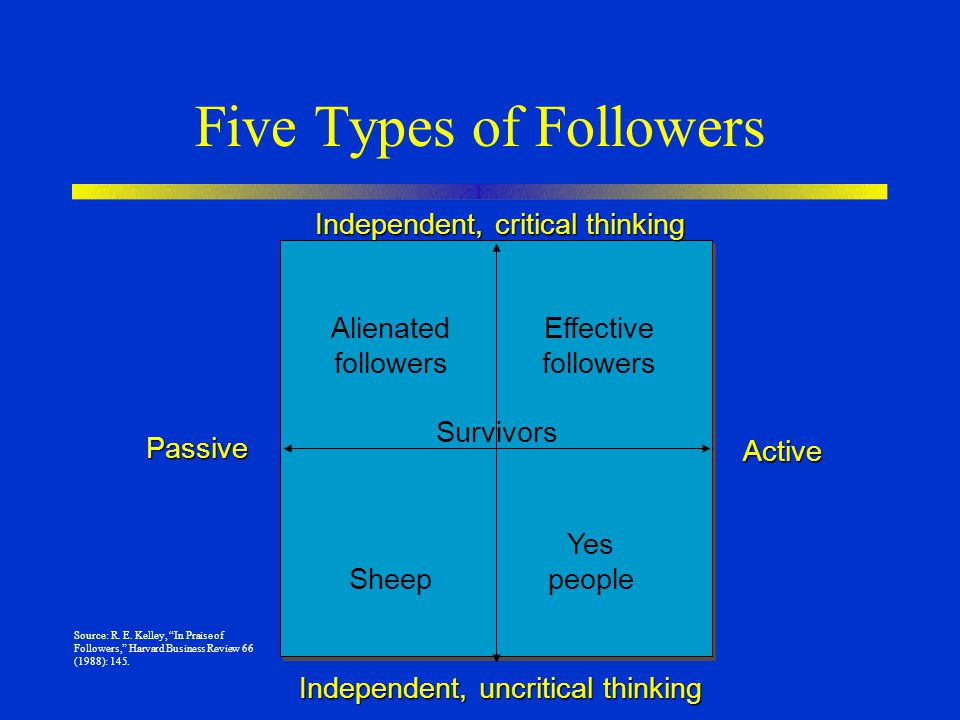 Five Types of Followers