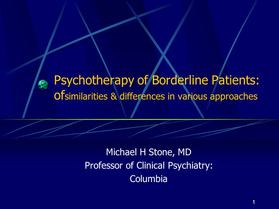 Michael H Stone, MD Professor of Clinical Psychiatry: Columbia