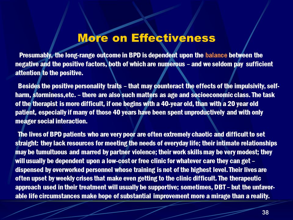 More on Effectiveness