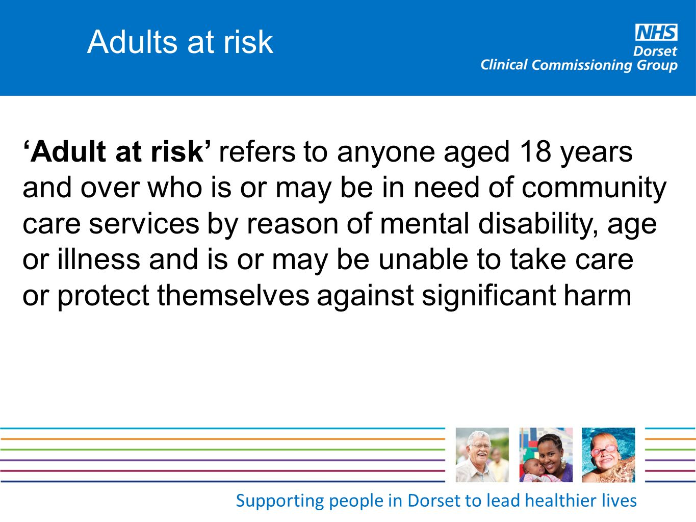 Adults at risk