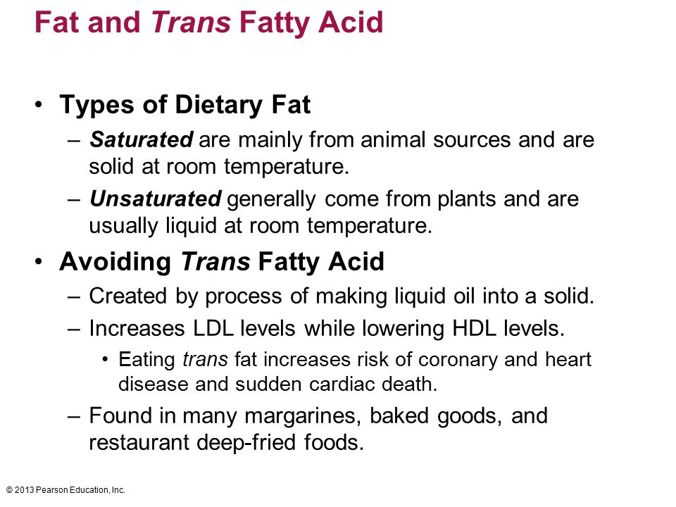 Fat and Trans Fatty Acid