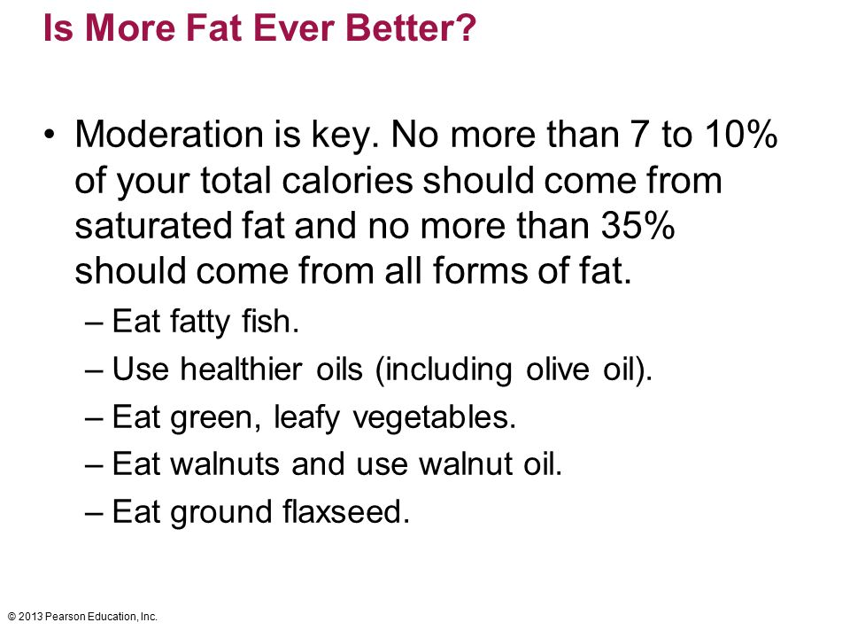 Is More Fat Ever Better