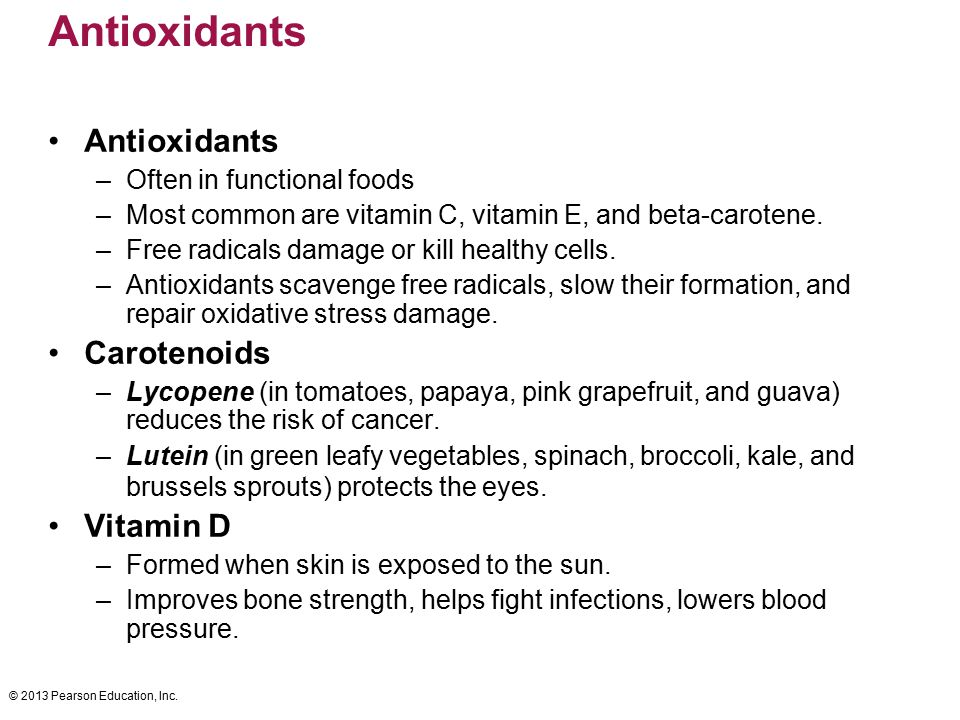 Antioxidants Antioxidants Carotenoids Vitamin D