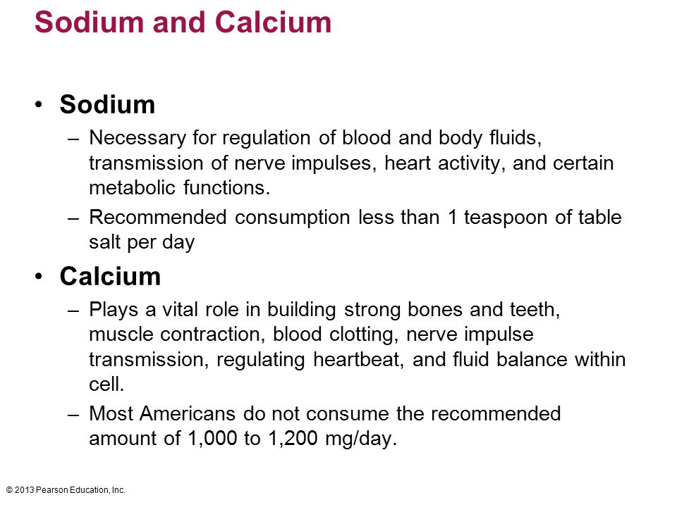Sodium and Calcium Sodium Calcium