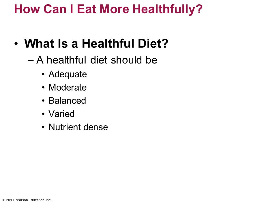 How Can I Eat More Healthfully
