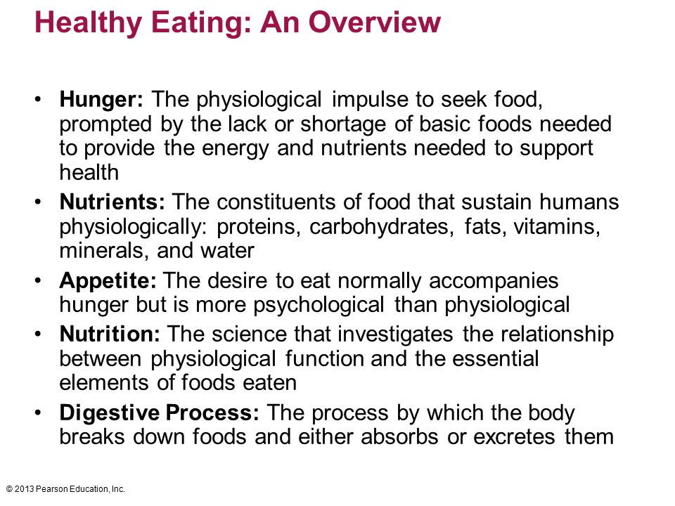 Healthy Eating: An Overview