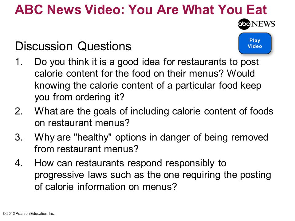 ABC News Video: You Are What You Eat